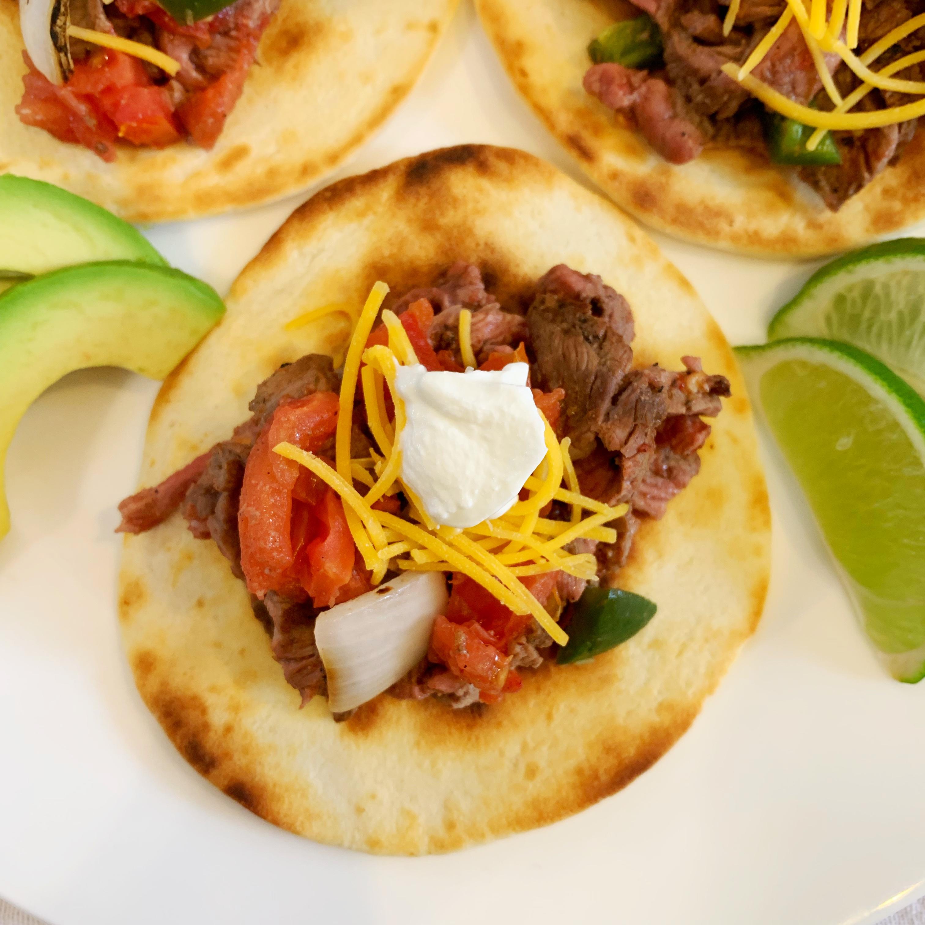 Perfect steak taco