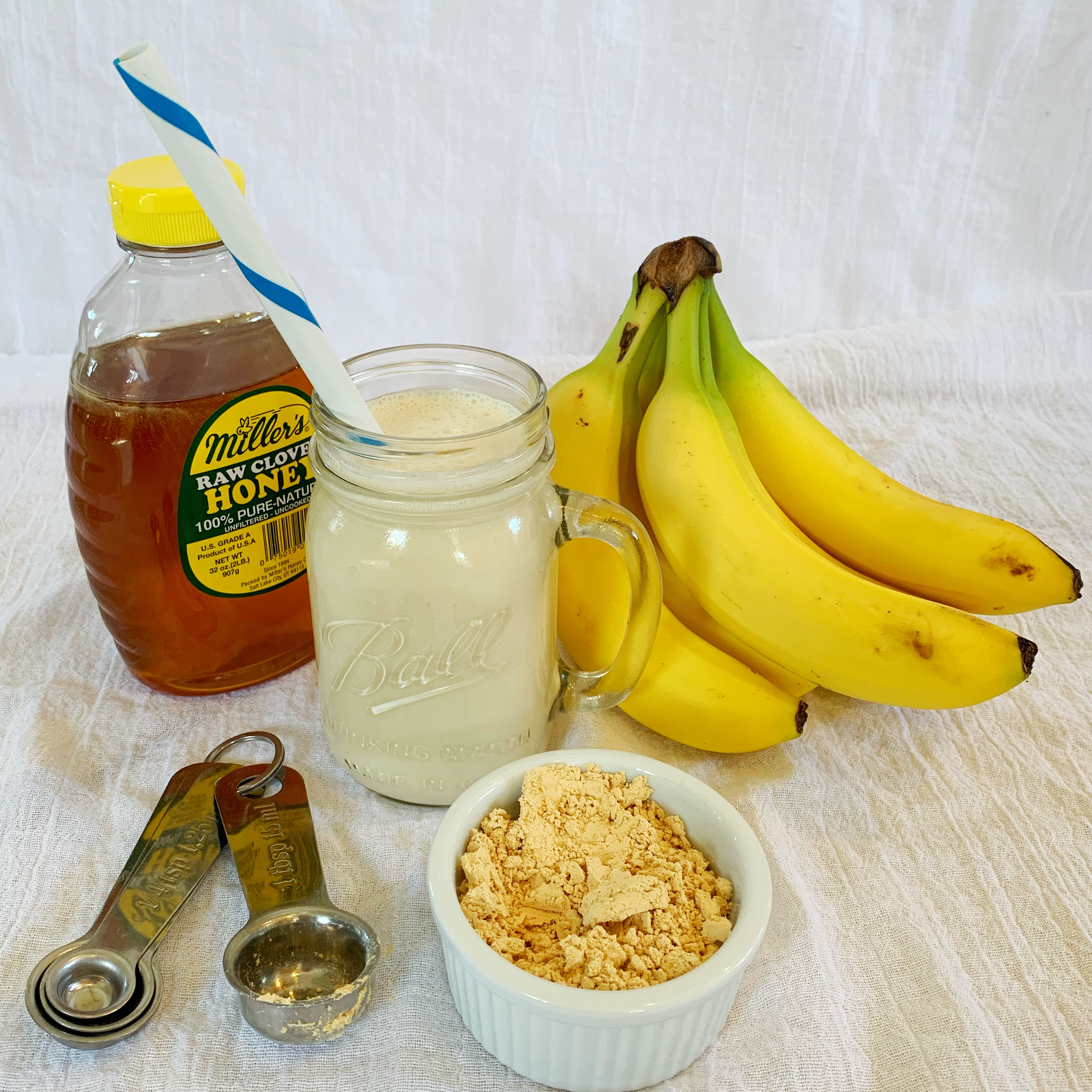 Delicious power protein banana peanut smoothie